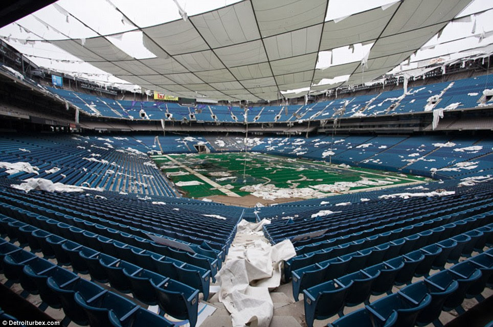 Auction: In March, the owners of the stadium announced they were auctioning off pieces of the stadium - before essentially abandoning it