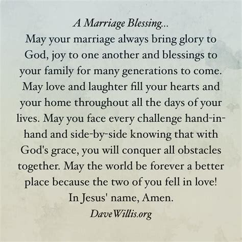 A Marriage Blessing   wedding   Wedding ceremony readings