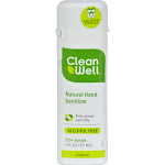 CleanWell Natural Hand Sanitizer Spray - Original Scent, 1 Ounce