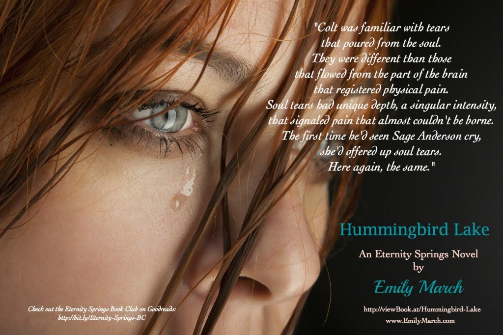A photo quote from Hummingbird Lake, a contemporary romance novel by Emily March