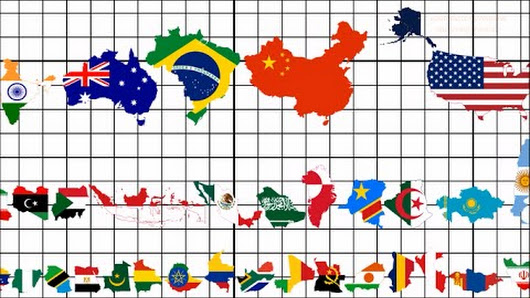 Abismal harmony google for World countries by size