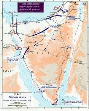 Mappa della guerra del 1956 (clicca per ingrandire)