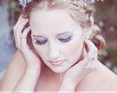 Winter Fairy/Snow Queen Crown--Faeryspell Creations-Custom Crown-Tiara-Wedding-Festival-Photo Prop - faeryspellcreations