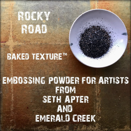Baked Texture Artist Embossing Powder by Seth Apter & Emerald Creek ROCKY ROAD