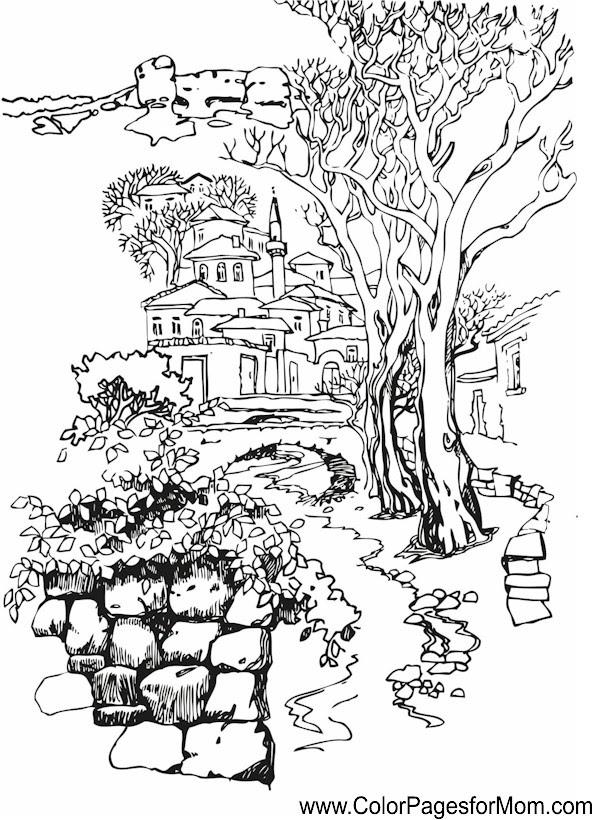 Alisya Coloring Pages Landscape Coloring Pages Pdf