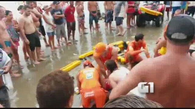 Mortos por raio em Praia Grande, SP, são turistas da mesma família
