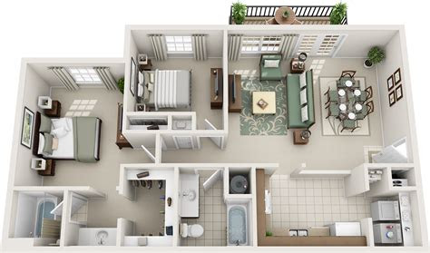 bedroom floor plans charleston hall apartments