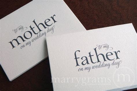 Wedding Cards To Your Mother And Father  Parents Of The