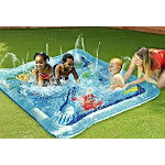 Kids Squirt Pool For Babies And Toddlers Outdoor Baby Splash Play Mat Connects To Sprinkler Inflatable Pool Water Toy