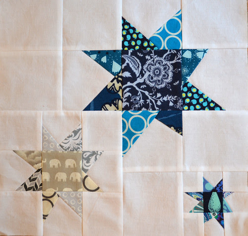 Stargazing - for 4 x 5 Modern Quilt Bee Hive 1, 4th Quarter