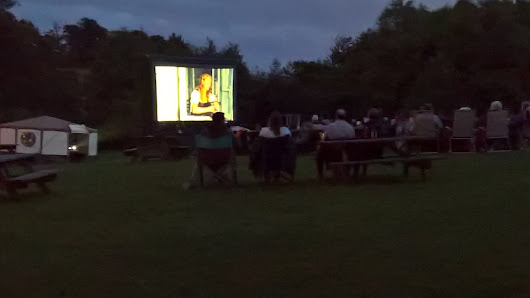 Open air cinema hire outside screens information and Outdoor Cinema