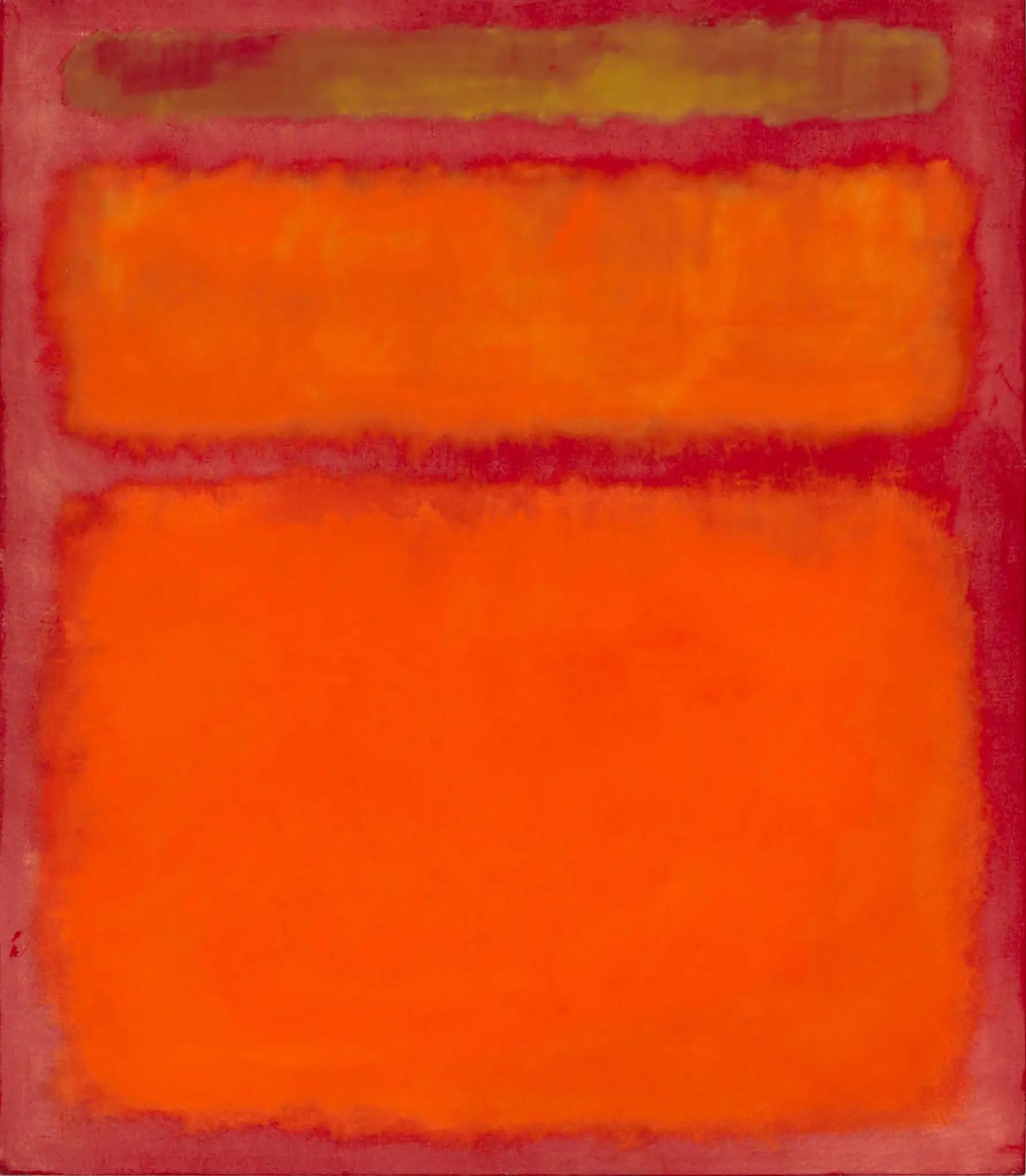 Mark Rothko's 'Orange, Red, Yellow ile ilgili görsel sonucu