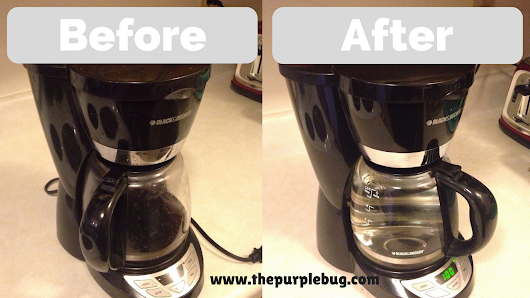 How to Clean Your Coffee Maker with Vinegar - The Purple Bug Project