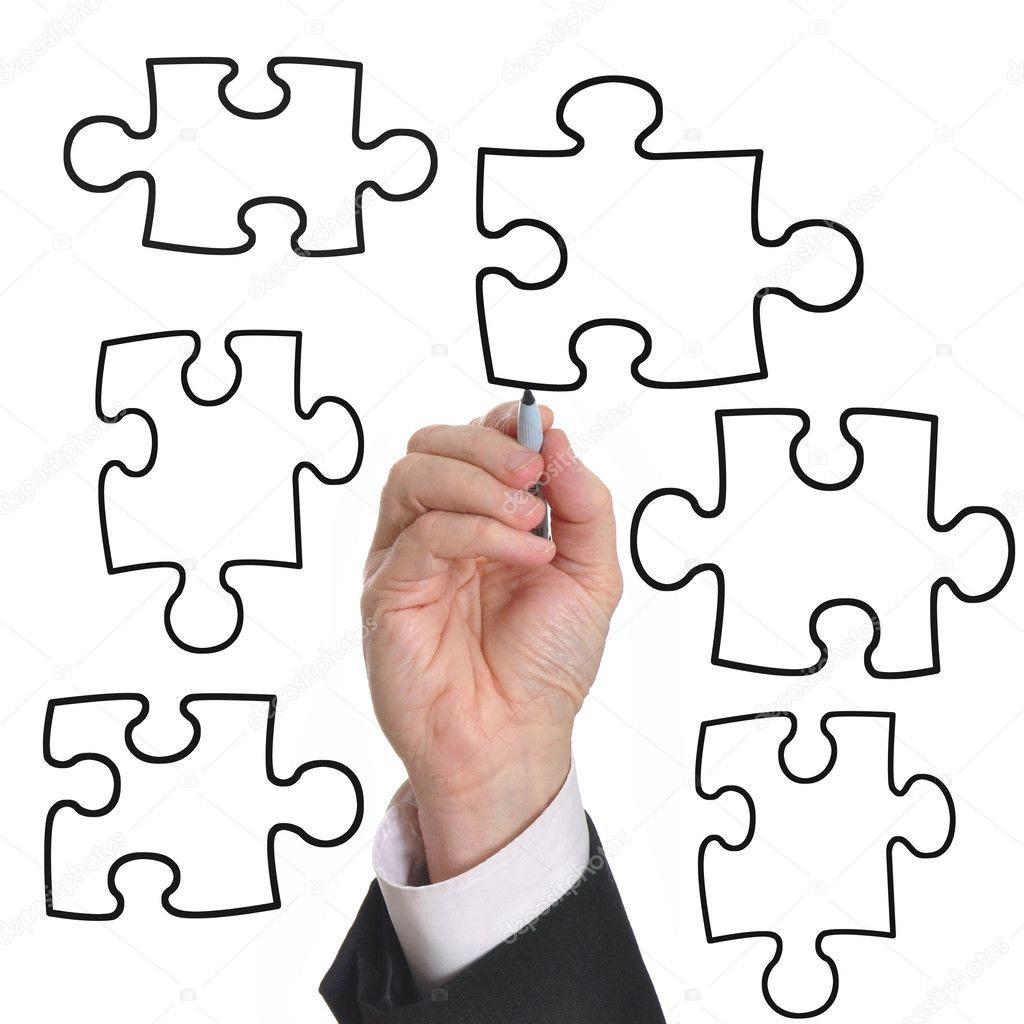 Blank business diagram — Stock Photo © svanhorn #3849956