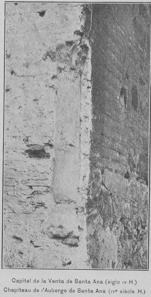 Capitel islámico de la Venta de Santa Ana en Toledo hacia 1900