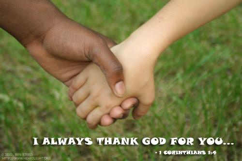 Inspirational illustration of 1 Corinthians 1:4