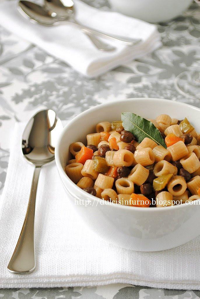 Pasta e Ceci Neri-Pasta with Black Chickpeas