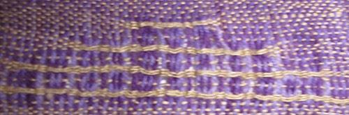 Swedish Lace weft floats