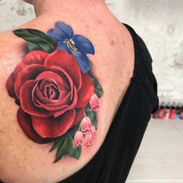 Floral Tattoo On Shoulder Blade Best Tattoo Ideas Gallery