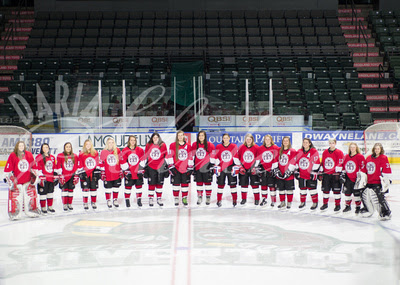 WWFHA Wild 2014 | smiling December U19 Rep semi-circle