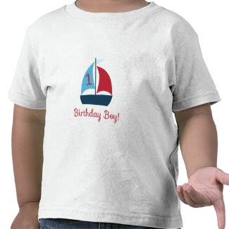 First Birthday Sail Boat T-Shirt