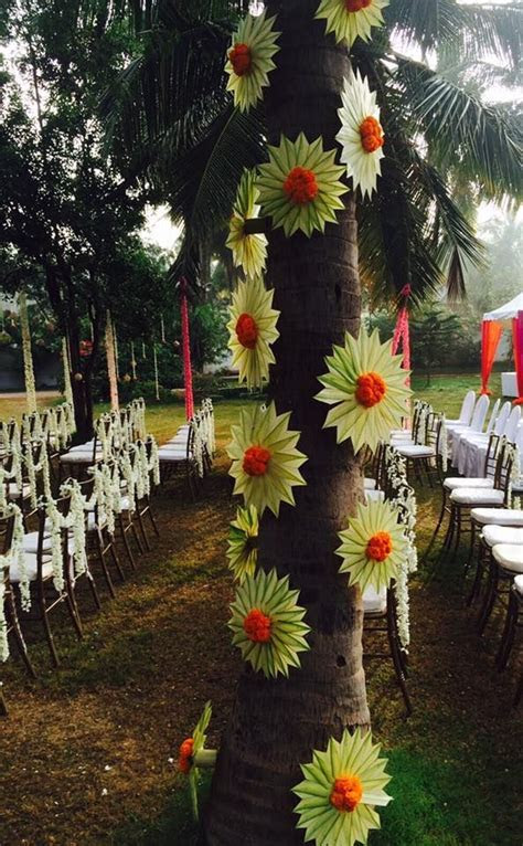 Tree Decor with Tender coconut Leaves..   3Productions