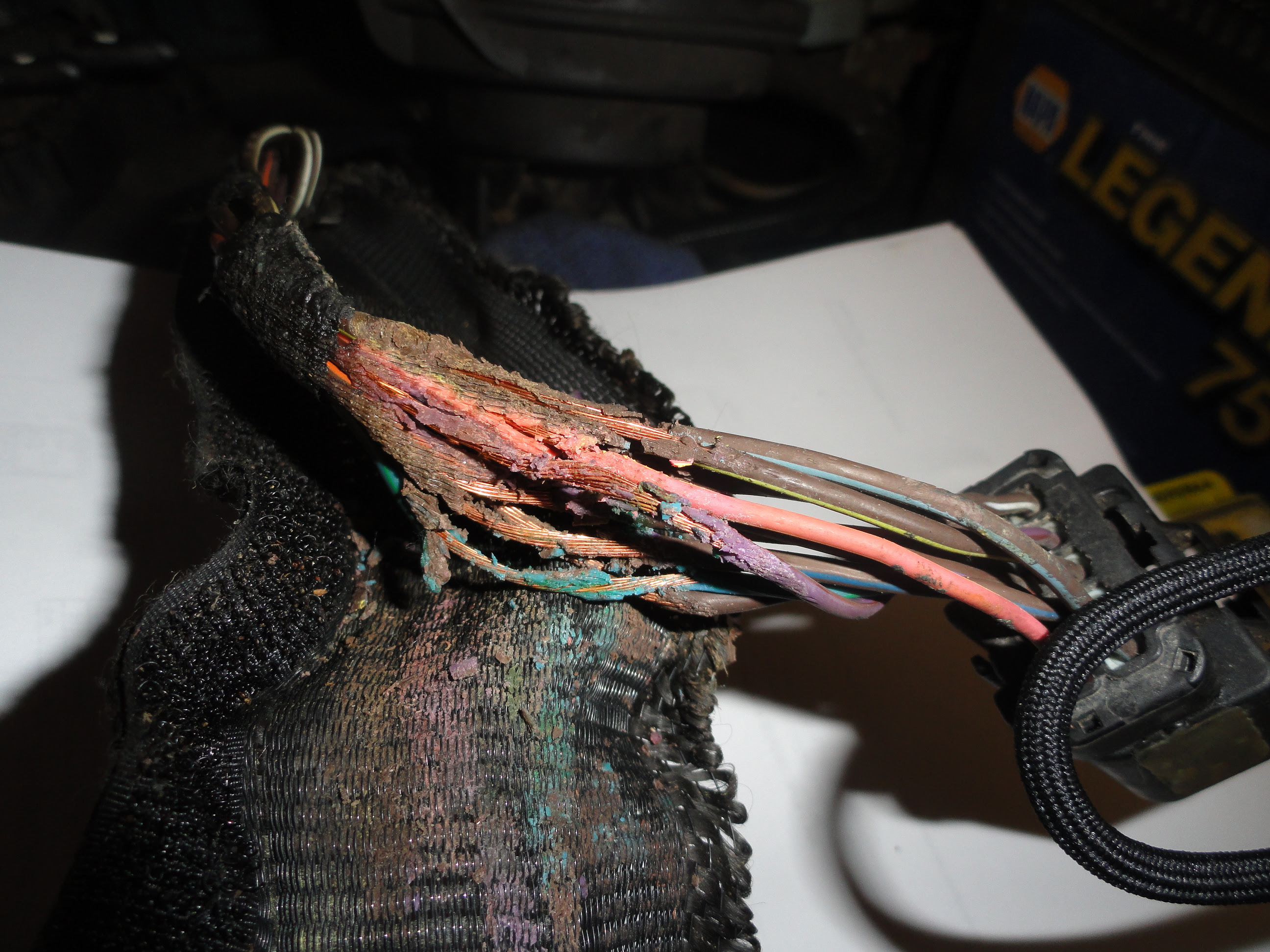 automotive wiring harness melted image 10