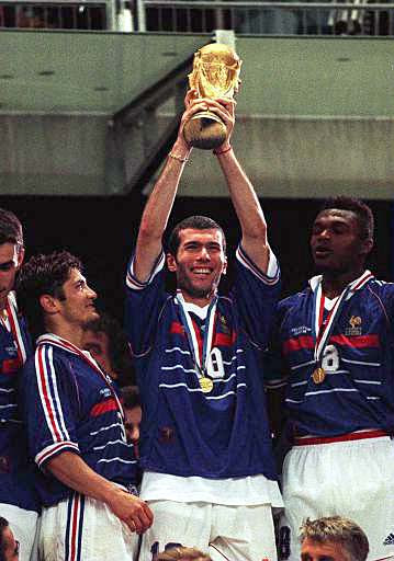 Extended highlights of the 1998 World Cup Final is currently on repeat on a