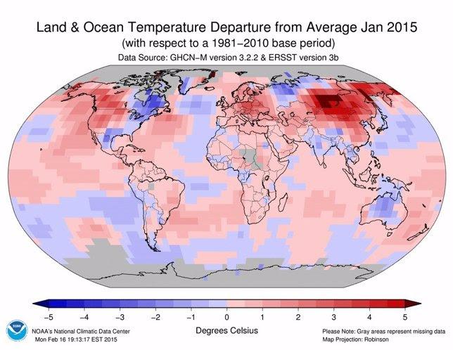 Temperaturas de enero