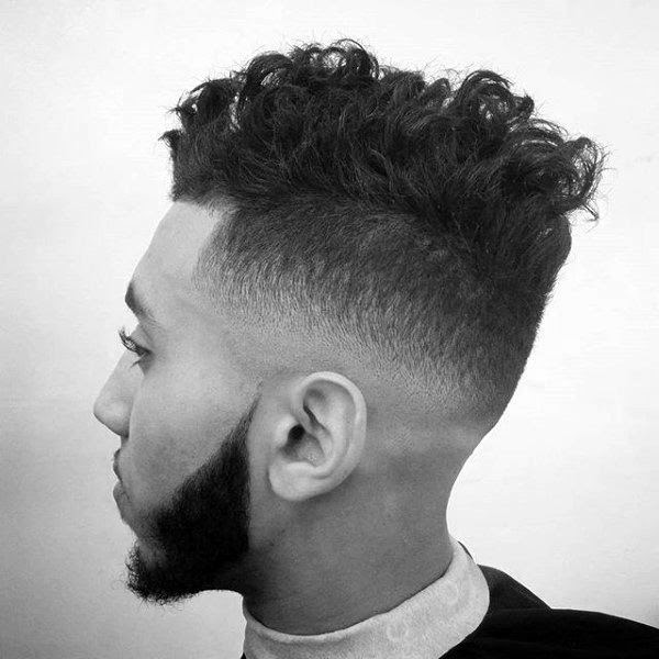 25 Curly Fade Haircuts For Men - Manly Semi-Fro Hairstyles
