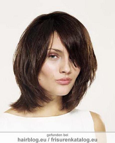 schulterlange haare frisuren braun