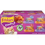 Purina Friskies (Poultry Variety Pack) - Wet Cat Food - 32ct Box