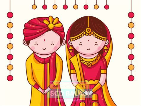 Quirky Indian Wedding Invitations   Cute Indian Brides and