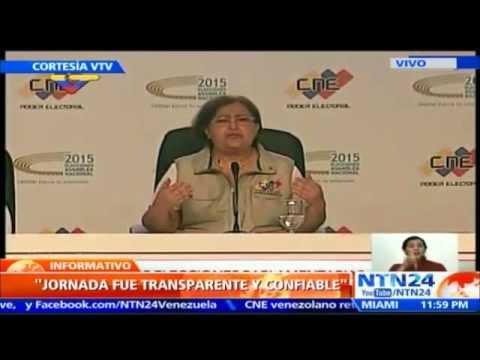 CNE: OPOSICIÓN VENEZOLANA OBTIENE 99 DIPUTADOS A LA ASAMBLEA NACIONAL FRENTE A 46 DEL OFICIALISMO