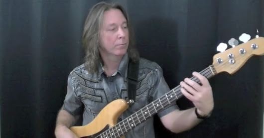 Shuffle Rock Bass Groove With Passing Tones | CyberfretBass.com