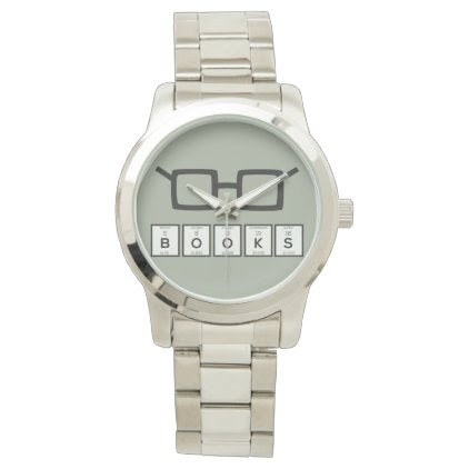Books chemcial Element Nerd glasses Zh6zg Wristwatches