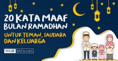kata maaf bulan ramadhan  keluarga ala model