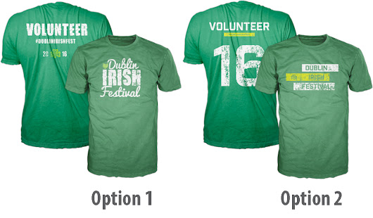 Vote for your Favorite Volunteer T-Shirt - Dublin Irish Festival