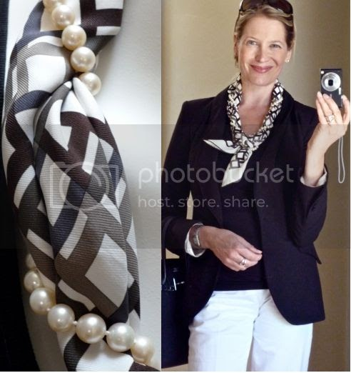 MaiTai's Picture Book: Scarf and Pearls 'how-to'...