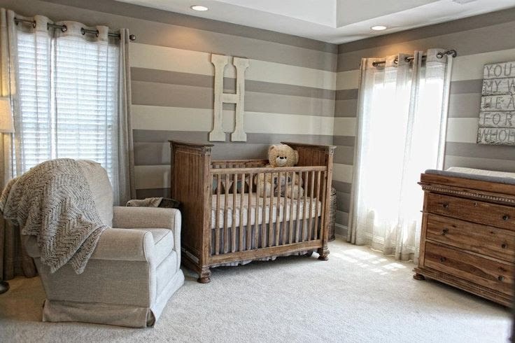 Baby Boy Nursery... Though I would love this decor in another room. Love the rustic look!