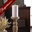12 Candle Holders Elegant Turned Wood Holder Centerpieces Wooden