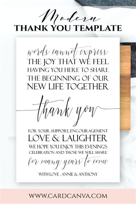 Modern Welcome Letter, Modern Script Wedding Welcome Note
