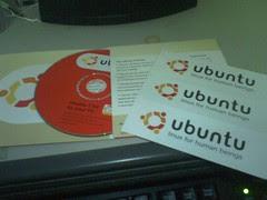 Ubuntu光碟+貼紙