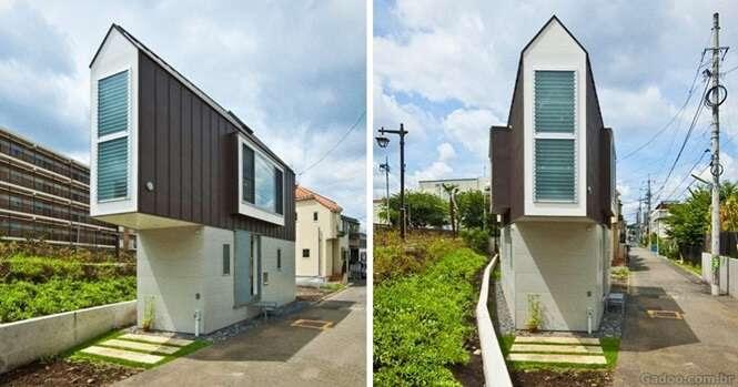 Conheça o impressionante interior desta incomum casa triangular