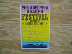 quaker festival poster