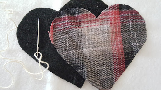 Plaid Flannel Puffy Heart Valentines - My Thrifty House