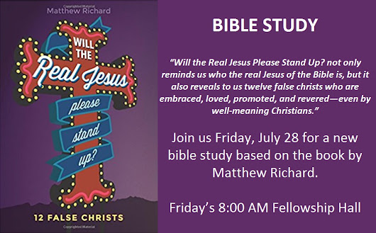 New Bible Study – Friday Mornings