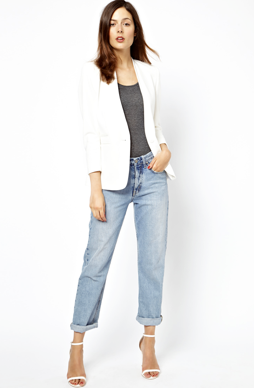 WHITE BLAZER WITH PU FAUX LEATHER LIKE LAPELS HEATHER GREY GRAY TANK TOP VINTAGE WASH HIGH WAIST BOYFRIEND JEANS DENIM WHITE HEELED SANDALS WHITE ANKLE STRAP HEELS RED NAILS CRISP SUMMER SPRING INSPIRATION photo LEFASHIONBLOGWHITEBLAZERBOYFRIENDJEANSCLASSICEASYCOMBOPART5-.png