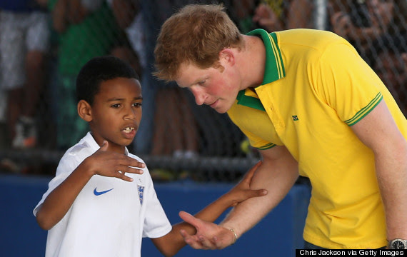 prince harry football brazil