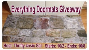 Enter the Everything Doormats Giveaway. Ends 10/8